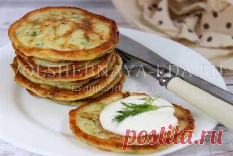 Oladushki de los calabacines la receta de la foto | Mágico Eда.ру
