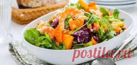 Салат с хурмой - 10 рецептов с фото