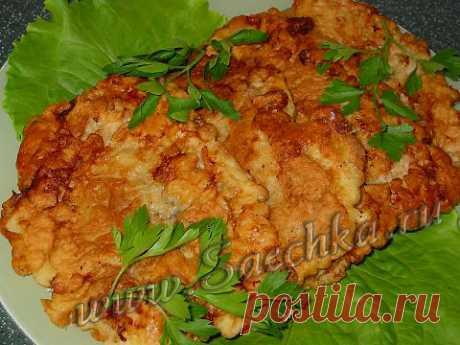 Шницель СССР - рецепт с фото Шницель СССР приготовлен из свинины и обжарен на сковороде.