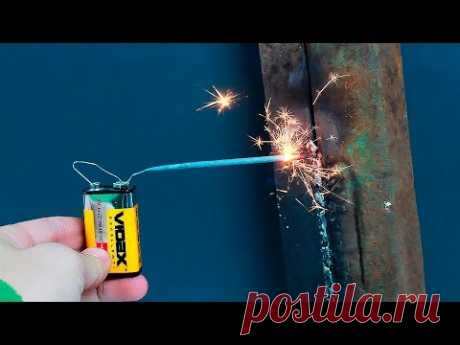 Идея сварки без рук/An idea of welding without using your hands