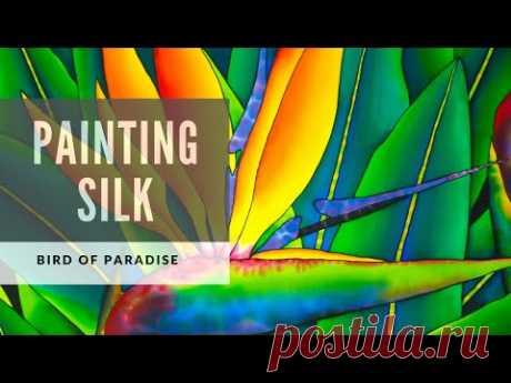 Jean-Baptiste silk Painting | BIRD OF PARADISE