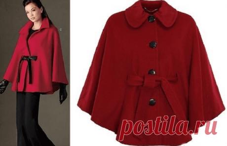 Простые выкройки демисезонного пальто и пончо | Краше Всех