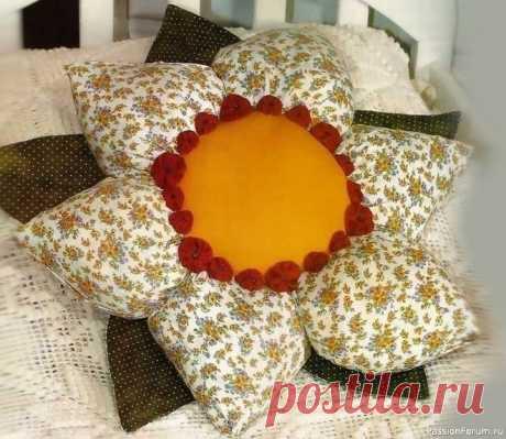 Подушка – цветок. Мастер-класс | Швейная мастерская
