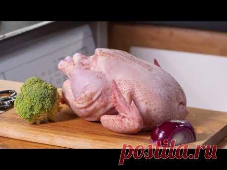 Это прекрасный ужин. Просто все сложил и получил великолепную курицу с овощами. Готовлю в духовке.