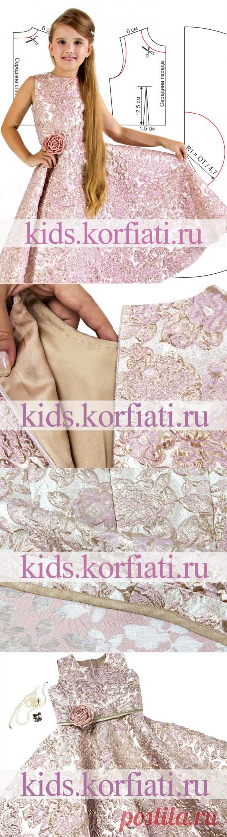 Выкройка праздничного платья для девочки от Анастасии Корфиати
