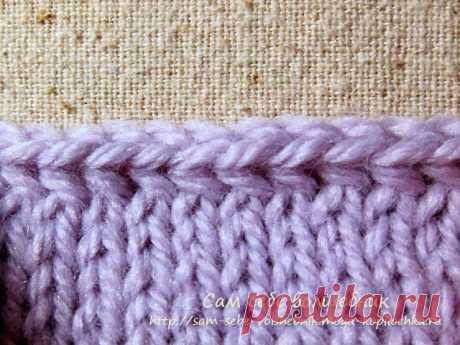 9 способов красивого закрытия петель при вязании спицами