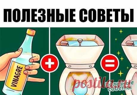 1. Если налить уксус в бачок и смыть, он капитально почистит унитаз от грязи, бактерий и даже плесени. Плюс, можете проложить его туалетной бумагой, смоченной в уксусе. 2. Черный чай из трех пакетиков на стакан воды — отличная эко-замена средству для мытья стекол. 3. Смешайте пополам уксус и жидкость для мытья посуды, и вы отмоете любое пятно в ванной комнате. 4. Пятна от воды и известковый налет легко удаляются с помощью кусочка обычного лимона. 5. Более трудные загрязнен...