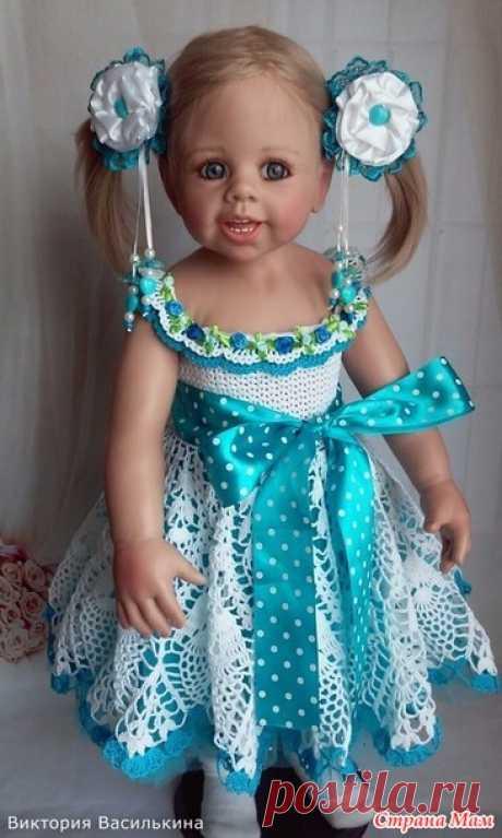 Вязанное платье для девочек. - Вязание - Страна Мам