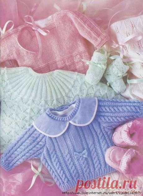 Пуловеры для годовалых малышей. / Вязание как искусство!