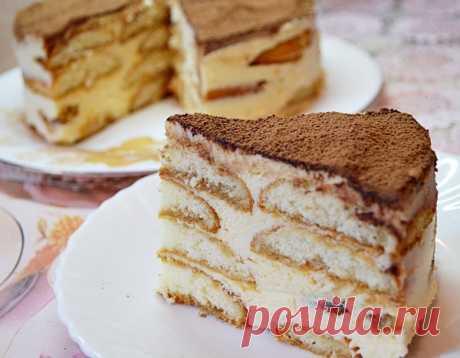 Торт «ТИРАМИСУ» ( вкуснейший рецепт без сырых яиц) | Вкусные рецепты