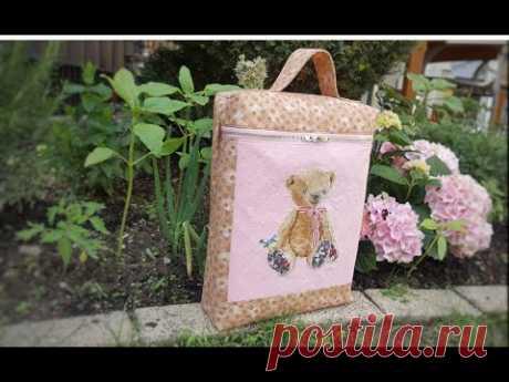 Шью сумочку-котомку с вышивкой/ МК: этапы пошива.
