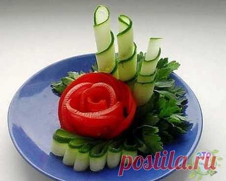 Красивые идеи для декора праздничных блюд.