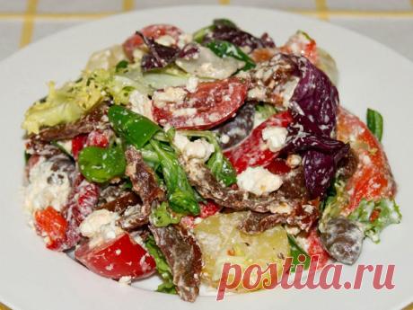 Салат с вялеными помидорами, рецепт