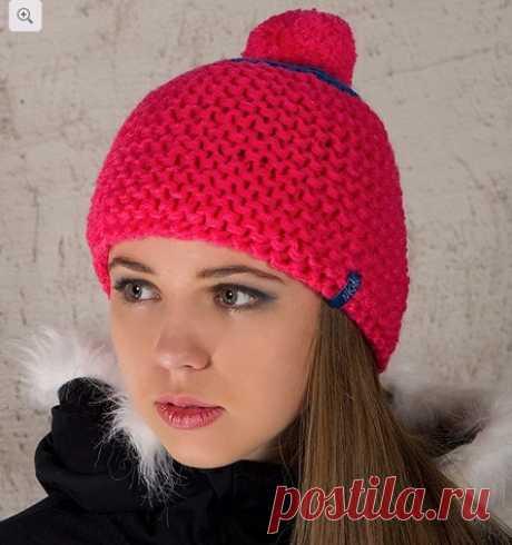 Шапка, связанная платочной вязкой : Вязание на oleksi.ru