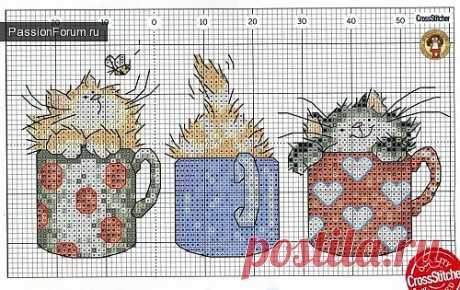 Коты и кошки. ЧАСТЬ 1 / Схемы вышивки крестиком / PassionForum - мастер-классы по рукоделию