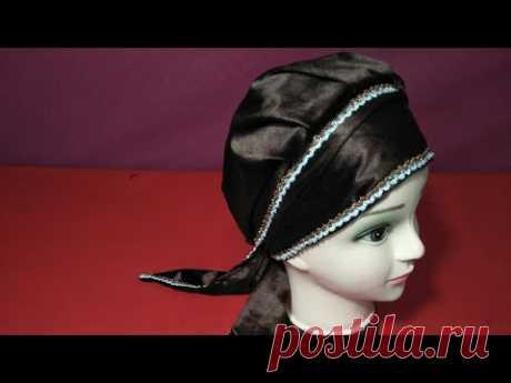 طريقة خياطة توربان بقماش قطيفةcoudre un turban