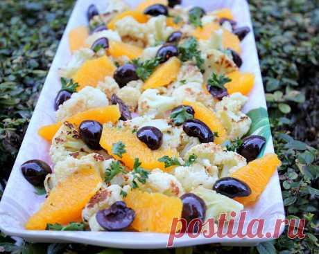 Изумительный салат из цветной капусты и апельсина