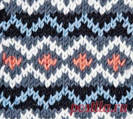 Узор «Брюгге» - схема вязания спицами. Вяжем Узоры на Verena.ru