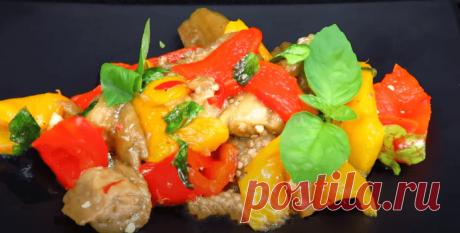 Салат с баклажанами рецепт с фото пошагово