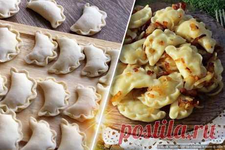 Как просто сделать красивые вареники «Рюши» Рецепт Классического Украинского Блюда с Поджаркой - Вкусно с Любовью - медиаплатформа МирТесен