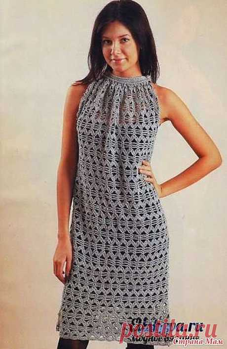 Ажурное платье с американской проймой.