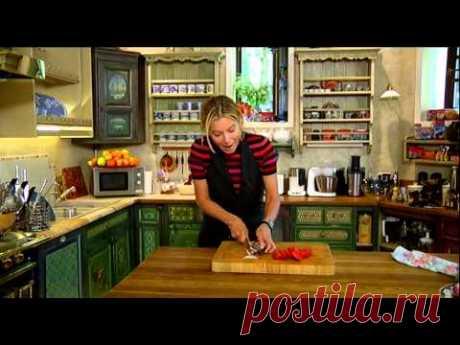 Осенний салат из баклажанов (жареные) с помидорами
