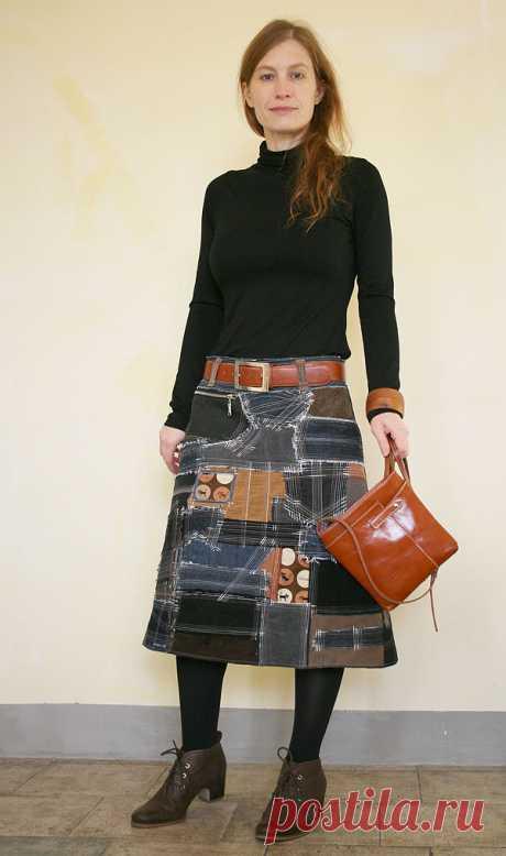 Как сшить юбку в стиле «боро» - Ярмарка Мастеров - ручная работа, handmade