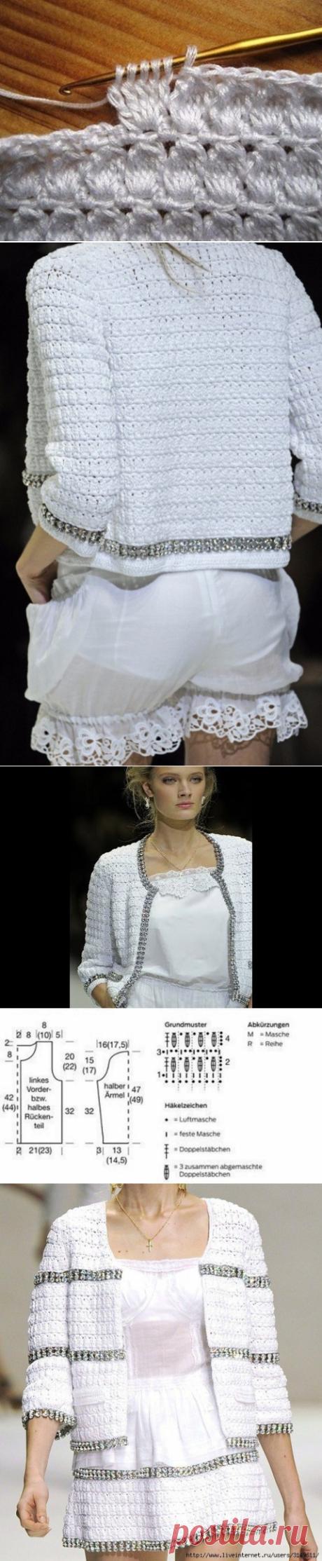 Жакет крючком в стиле Dolce & Gabbana — Красивое вязание