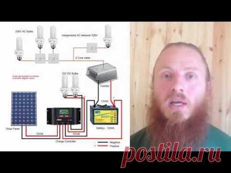 Солнечные панели для дома! Мой опыт и отзыв - YouTube