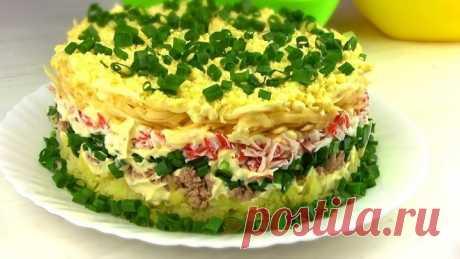 Праздничный салат из Простых продуктов
