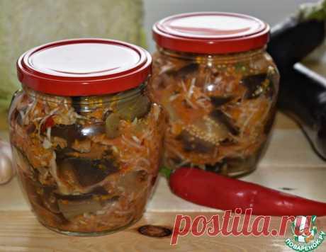 Баклажанный салат с капустой на зиму – кулинарный рецепт