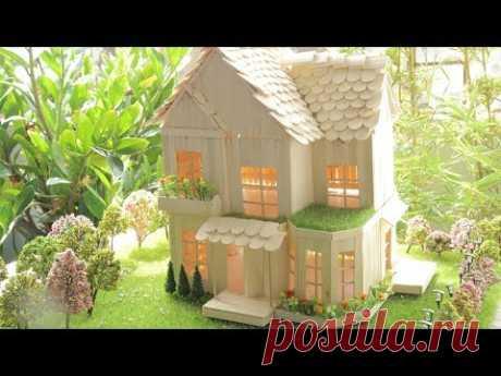Как сделать дом, используя палки эскимо