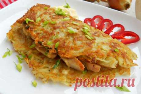 Картофельные лепешки с начинкой