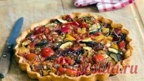 Постный вегетарианский тарт с овощами - рецепт с фото пошагово