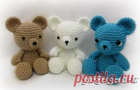 Игрушки крючком – медведи