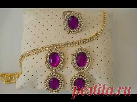 Designer Party Ware Ring and Earrings using Plastic Sheet