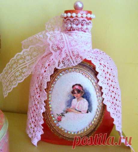 Остальное: флаконы для интерьера (декупаж бутылки) » ProstoDelkino.com - поделки своими руками.