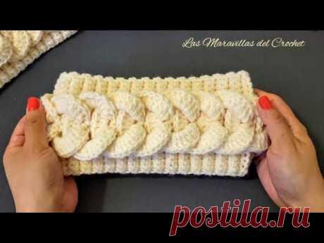 (SUBTITLED IN ENGLISH) #LasMaravillasdelCrochet Diadema a Crochet(ganchillo) con Trenza paso a paso