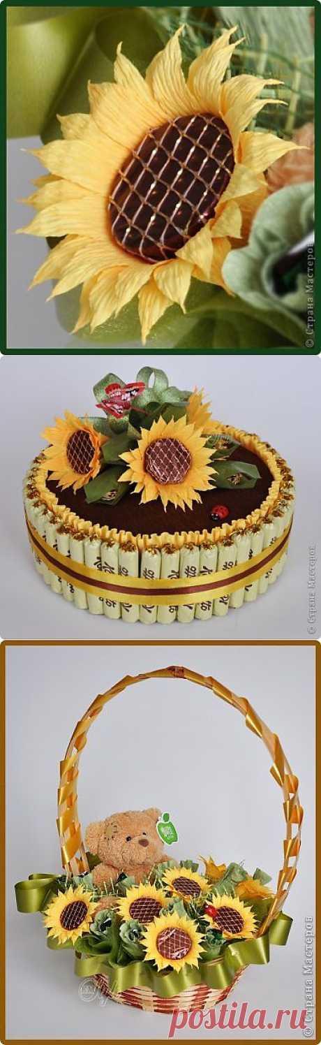 Цветы из конфет и гофрированной бумаги! - Форум
