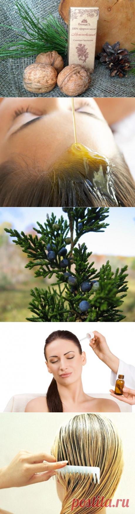 El aceite del enebro para los cabellos: la aplicación y las propiedades