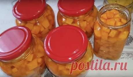 На зиму готовлю манго из тыквы. Все кто пробовал, не могут отличить от настоящих