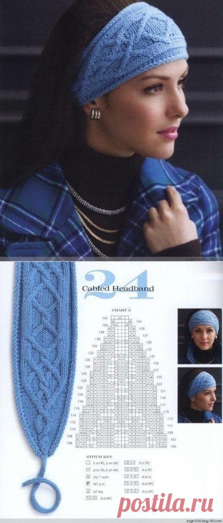 Идея для повязки на голову. Схема