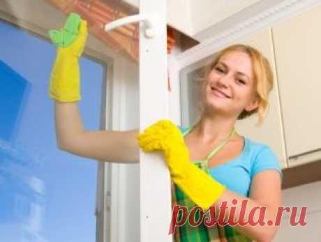 Окна без разводов. Как сделать средство для мытья окон в домашних усло   полезные советы   Постила