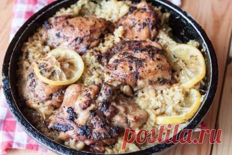 Как приготовить курица по-гречески с лимонным рисом - рецепт, ингредиенты и фотографии