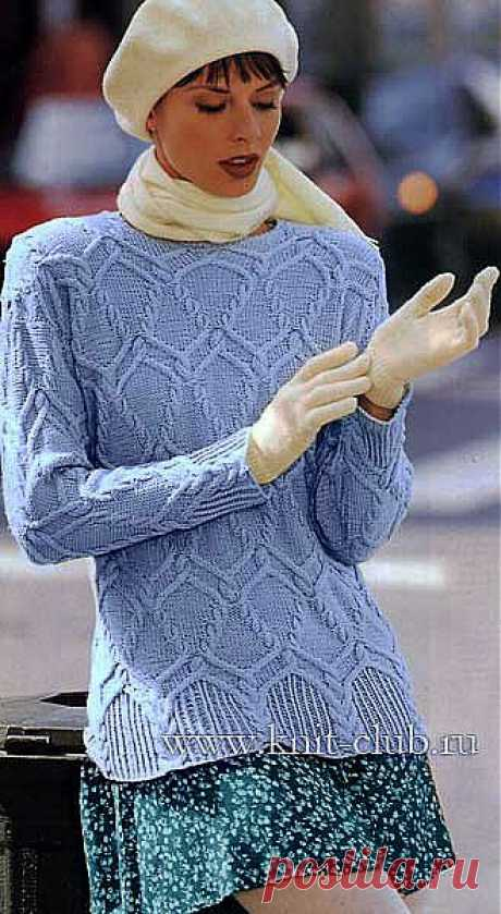 Узорчатый пуловер.