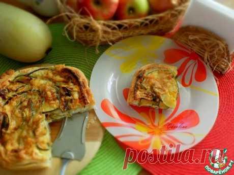 Сырный тарт с кабачком Кулинарный рецепт