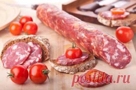 Секреты приготовления домашней сырокопченой колбасы — Вкусные рецепты