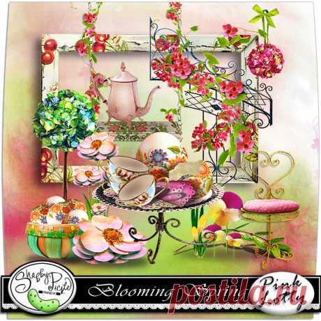 Очень красивый,весенний скрап-набор «Blooming Spring»