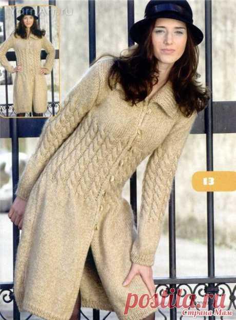 Красивые сезонные пальто спицами. Еще одна подборка. 15 моделей с описанием. | Ирина СНежная & Вязание | Яндекс Дзен