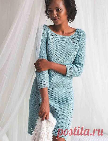 KUFER z artystycznym rękodziełem : Sukienka wiosenna szydełkiem DIY